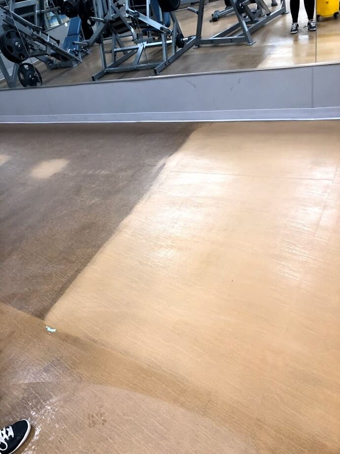 Floor Scrub Before and After